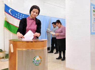 За первые четыре часа выборов в Узбекистане уже проголосовало свыше 7 млн. человек